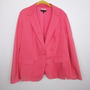 Lane Bryant Plus Size 20 Womens Coral/Pink Blazer